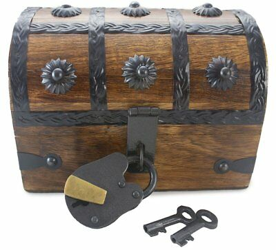 "Well Pack Box Treasure Chest Pirate Toy Box for Kids 6.5"" x 4.5"" x 4.5"""