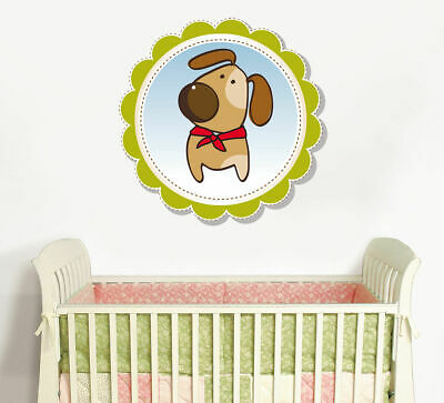 ced195 Full Color Wall decal Sticker funny animals dog bedroom kids nursery