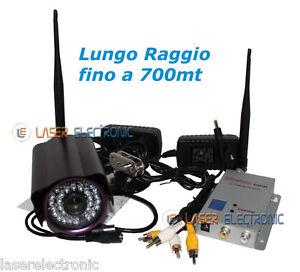 Telecamera wireless lunga distanza 700mt 1 2ghz 700mw - Citofono wireless lunga portata ...