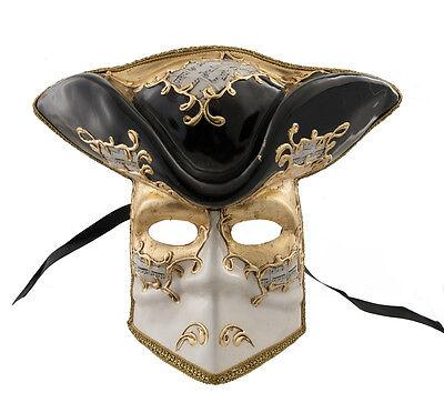 Mask Casanova from Venice Bauta Black Carnival Prom Venetian VG15 1483