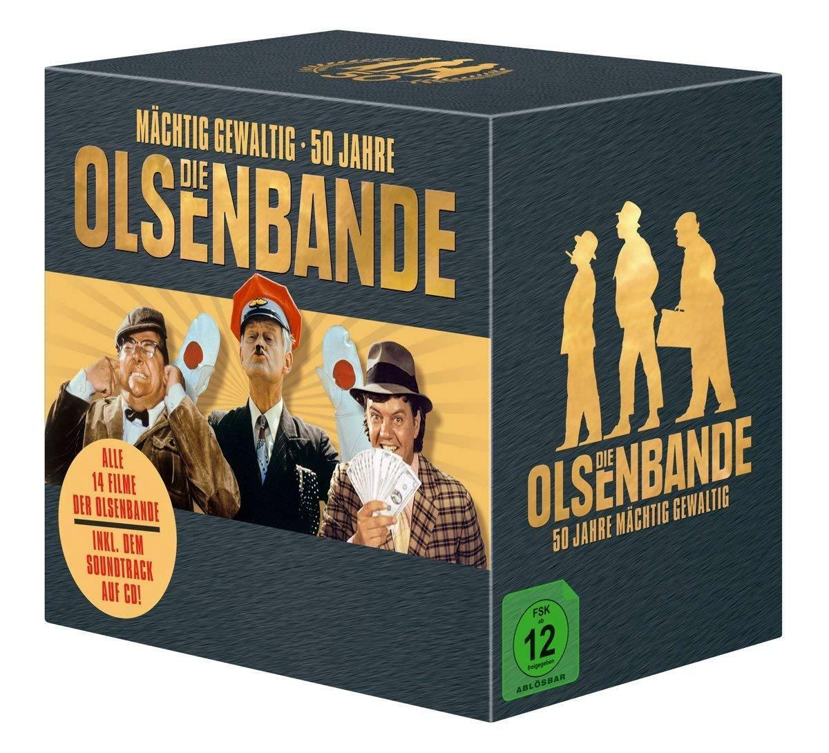 14 DVDs + 1 CD * DIE OLSENBANDE-50 JAHRE MÄCHTIG GEWALTIG - BOX # NEU OVP &