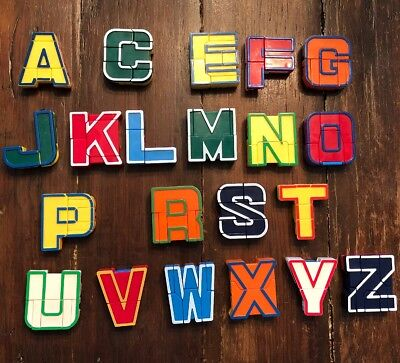 Alphabots Letter Transformers Learning Toy Alphabet Robots Letters Incomplete