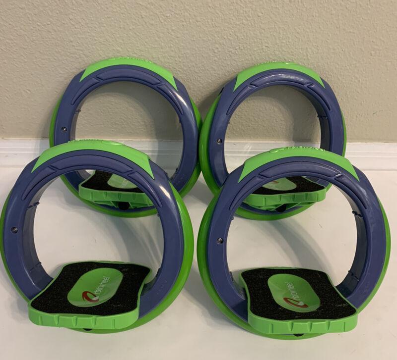 Orbitwheel Orbit Wheel Inline Skates Inventis Green Boardless Skateboard 2 Sets