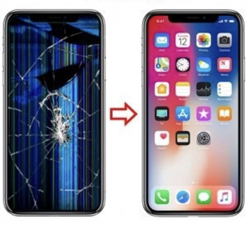 Apple Iphone 6s Plus/ 7 Plus/ 8 Plus Broken Crack Screen Mail-in Repair Service