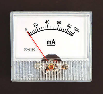 1pc Panel Amp Meter Dc 100ma Sd-312c 55x47mm Linear Type 5 Sd Flashstar