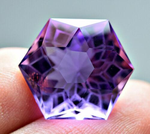 11 CT Very interesting   Natural Amethyst Fancy  Cut Gemstone@AFRIC