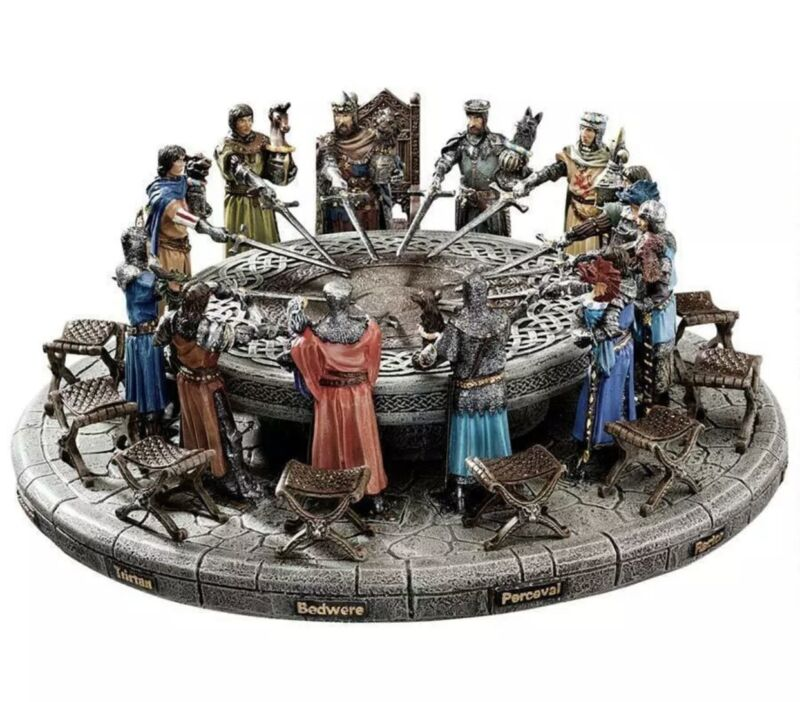 KING Arthur & the Knights of the Round Table Sculpture Medieval Home Decor NIB