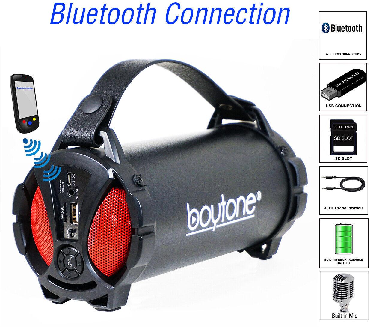 Boytone BT-38RD Portable Bluetooth Indoor/Outdoor Speaker 2.