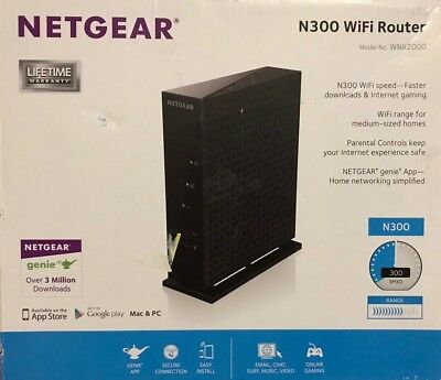 NETGEAR N300 WIFI ROUTER MODEL WNR2000 OPEN BOX