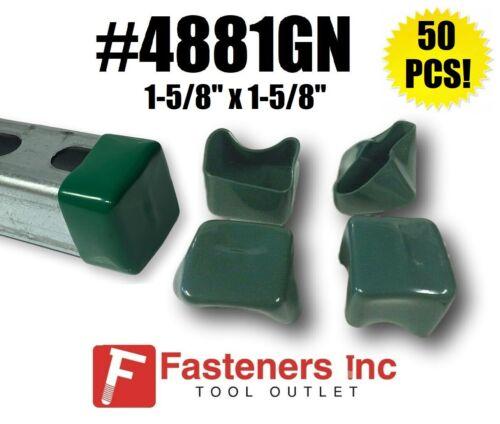 (QTY 50) Plastic GREEN End Caps Unistrut Strut Channel 1-5/8
