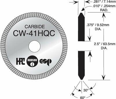 Locksmith Key Machine Cutting Wheel By Hpc Cw-41hqc Cutter - Usa Made - Carbide