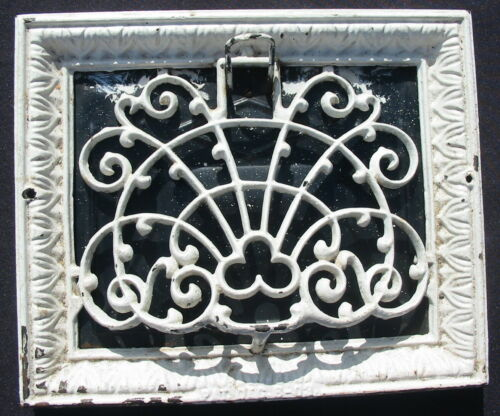Vtg Cast Iron Grate Register Diffuser Grille Metal Farm Architectural Vent Cover