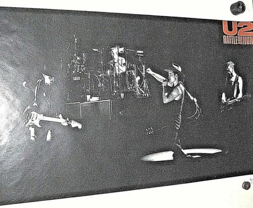 U2 POSTER RATTLE AND HUM VINTAGE 1988 LICENSED BY FUNKY BONO THE EDGE