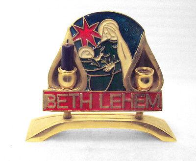 Bethlehem Candle Holder Mary & Baby Jesus Nativity Christmas