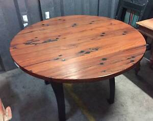 Recycled timber dinning table on industrial base Waterloo Inner Sydney Preview