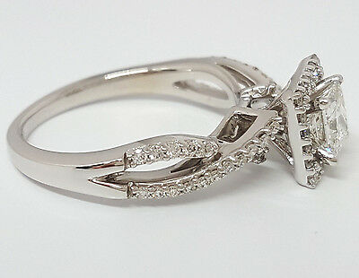 0.77 ct 14K White Gold Princess Cut Diamond Engagement Ring GIA G / VS2 10
