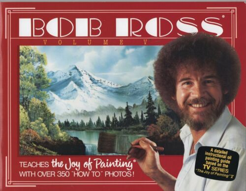 BOB ROSS JOY OF PAINTING BOOK 5 NEW WITH 13 PAINTING PROJECTS SHIPs FREE