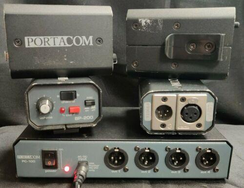 PortaCom PC-100 Power Console w/ 4x BP-200s