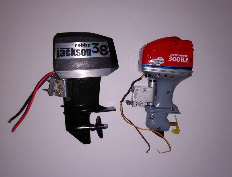 Robbe Jackson 38 and Tyco Outboard Motors Both work Radio control Vintage