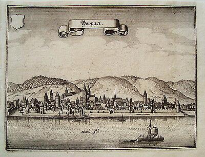 Boppard  Rhein  Merian Kupferstich  Erstausgabe 1646