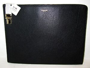 Coach Crosby Tucklock Black Leather Zip Top Portfolio # 61230 Retail NWT $248