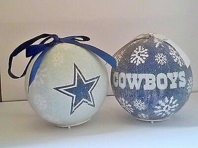 Dallas Cowboys NFL LED Light Up Christmas Tree Bauble Ball Decoration - Dallas Cowboys Christmas Decorations