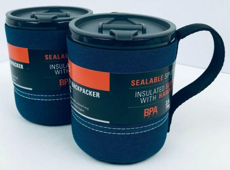 GSI Outdoors Infinity Backpacker Mug (BLUE/2 PACK) Insulated/3.5oz/Holds 17.5oz