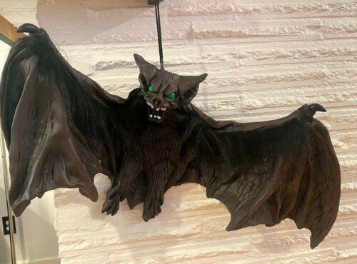 "Large Hanging Rubber Vampire Bat Furry Creepy Halloween Prop 31"""