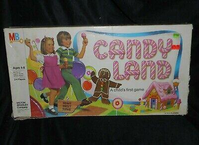 Vintage 1978 Candy Land Original Brettspiel in Karton 99% Komplett Spielzeug