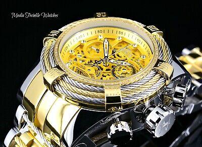 Invicta Reserve Bolt Zeus Tri-Cable Swiss Quartz 0.33ct DIAMOND Gold Tone Watch