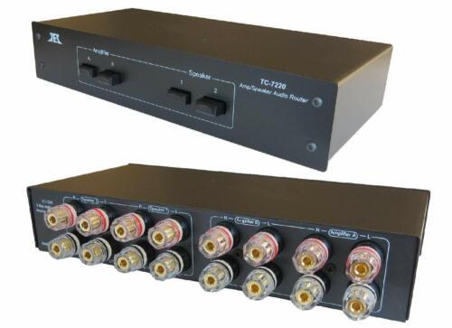 TC-7220 2-Way Amp Amplifier / Speaker Selector Switch Switcher Splitter Combiner