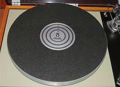 Phonograph Turntable Record Player Anti Static Slip Mat w/ Strobe Pattern Center