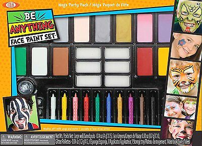 Alex Toys Ideal Face Painting Kit Mega Party Pack Ages 4+ New Toy Boys Girls - Halloween Batman Face Paint