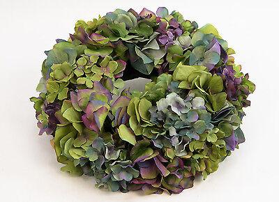 Hortensienkranz 32cm blau-grün-lila CG künstlicher Kranz Kunstblumen