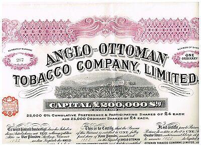 Anglo-Ottoman Tobacco Company, Ltd.,  London 1913
