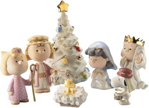 Lenox Peanuts THE CHRISTMAS PAGEANT 7pc Nativity Figurine Snoopy & Gang NIB 2021