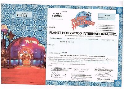 Planet Hollywood International, Inc., 1999