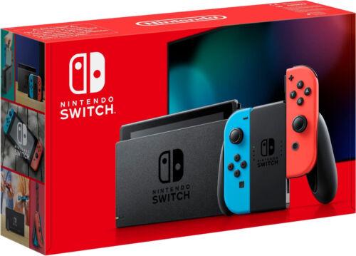 NINTENDO Switch Neue Edition 2019 Konsole schwarz neon rot blau B-WARE