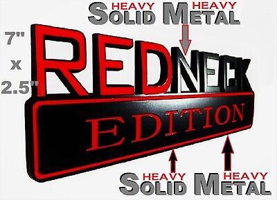 SOLID METAL Redneck Edition BEAUTIFUL EMBLEM Ferrari Trunk Federal Motors Badge