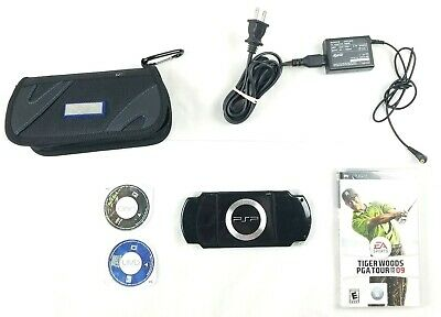 Sony PSP 2001 Slim Black Handheld System PSP Bag, 3 Games, 4GB Memory, Powr cord for sale  Shipping to Nigeria