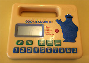 1985 fisher price cookie counter sesame street cookie monster