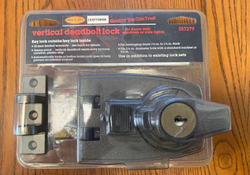 Vintage NOS Sears Craftsman Vertical Deadbolt Lock 957279 USA Made Door Window
