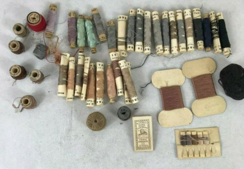 Lot of old Thread France Antique Sewing Silk Darning