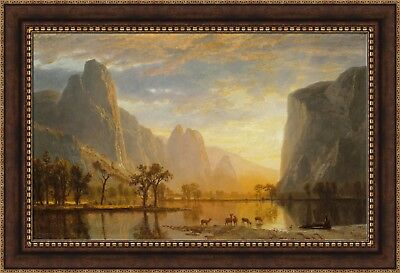 - Albert Bierstadt Valley of the Yosemite Framed Canvas Print 40.5