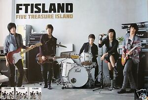 FT-ISLAND-FIVE-TREASURE-ISLAND-ASIAN-PROMO-POSTER-Korean-Boy-Band-K-Rock-K-Pop