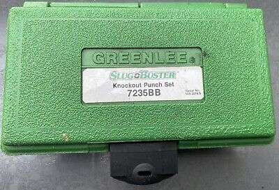 Greenlee 7235bb Slug Buster Punch Knockout Set 3m Boy 35 Phase Tape Included.