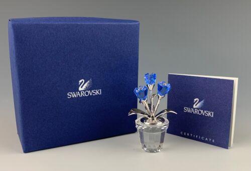 SWAROVSKI CRYSTAL FORGET ME NOT FLOWER FIGURINE NEW IN BOX!!