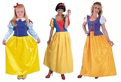 Schneewittchen Kostüm Kleid Märchen Disney Fee Elfe Schneewittchenkostüm lang (Schneewittchen Kostüm Disney)