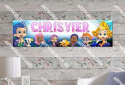 Bubble Guppies Decoration (Personalized/Customized Bubble Guppies Name Poster Wall Art Decoration)