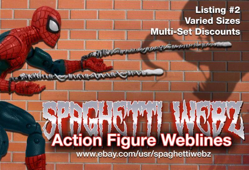 "McFarlane style ""Spaghetti Webz"" for Marvel Legends Spider-Man Webbing (Pair)"